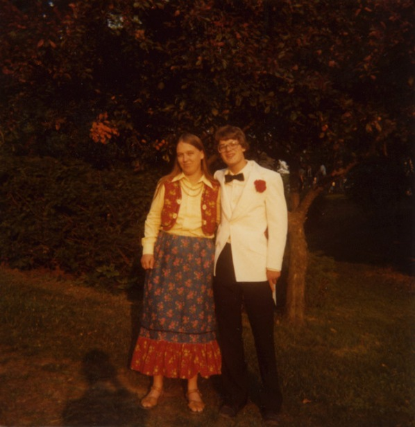 Paul & Mom at HS Graduation...long ago & far away...