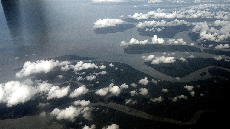 Islands & Clouds at Gulf-Coast Delta 2