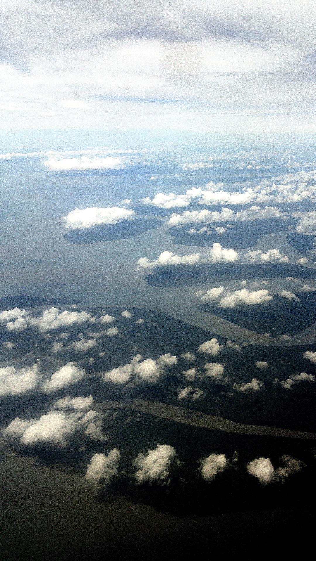 Islands & Clouds at Gulf-Coast Delta