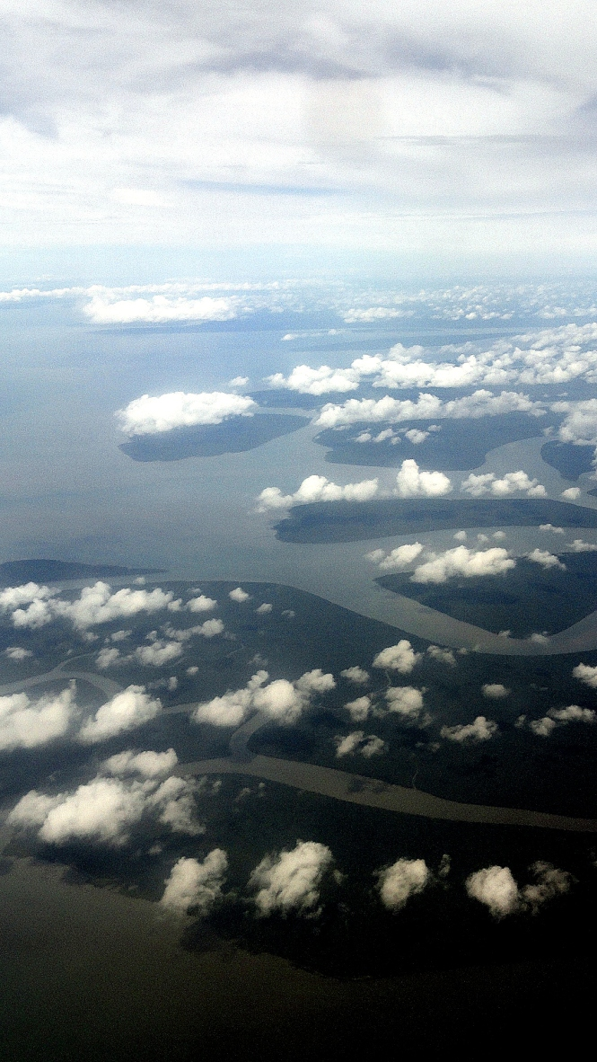Islands & Clouds at Gulf-Coast Delta