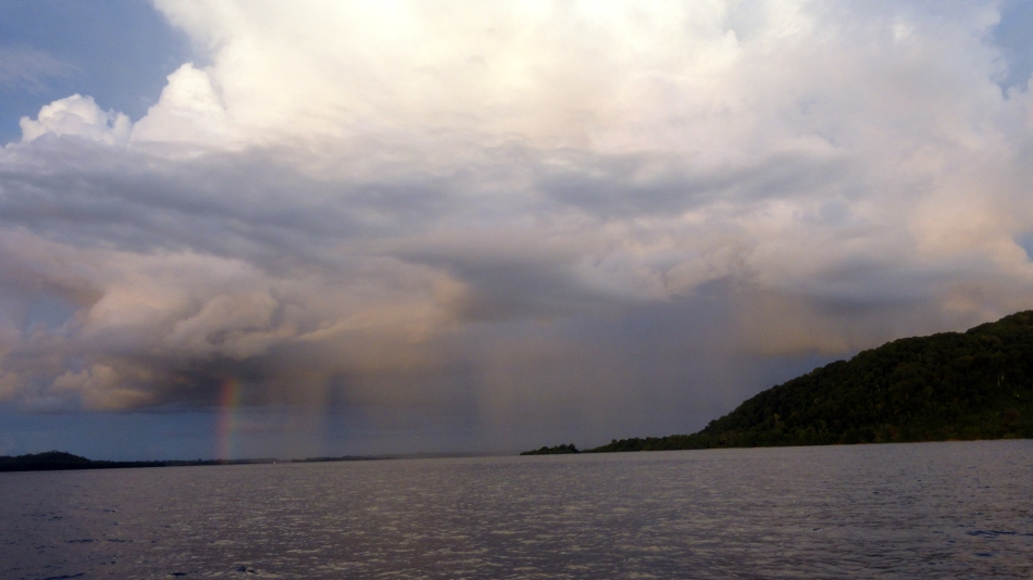 Rain and Rainbows over Bougainville