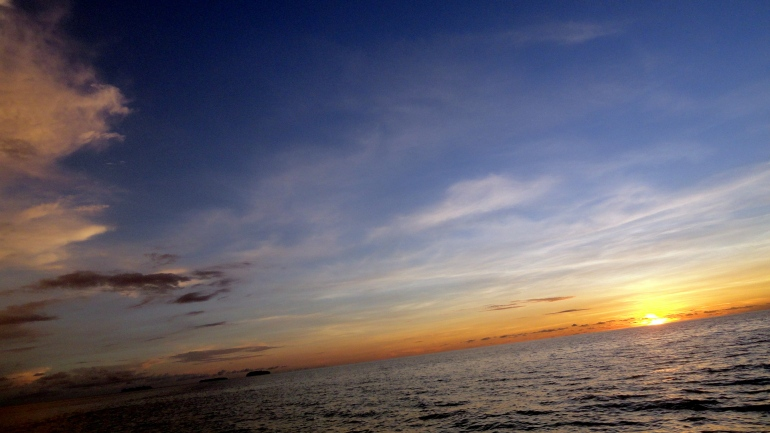 Sunset and Sea at Bougainville