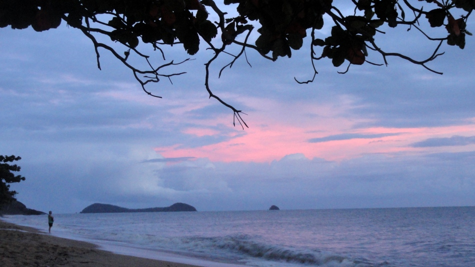 Pink Sky and Islands - Trinity Beach
