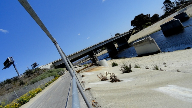Ballona Creek Bridge & Pilings