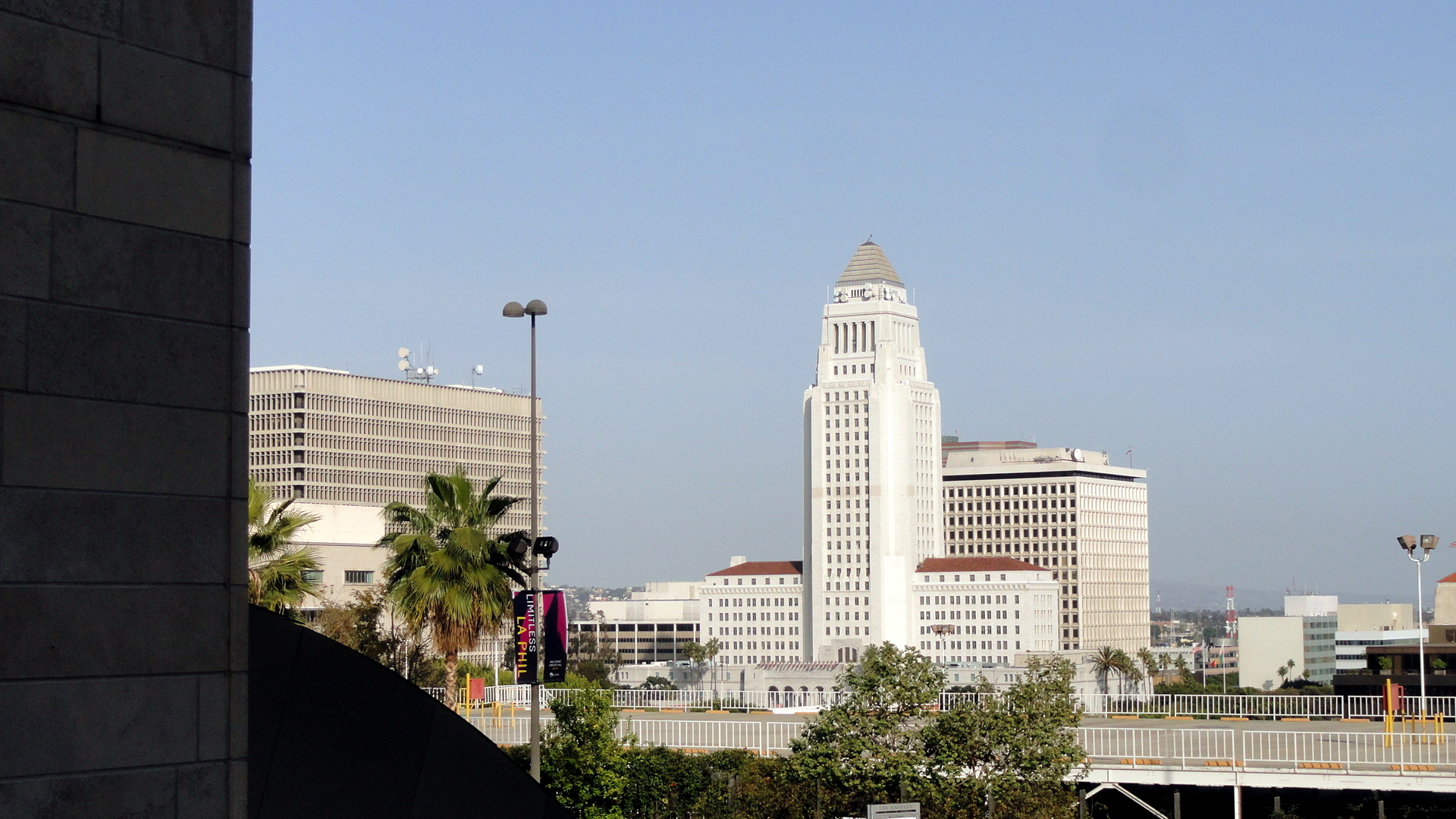 LA City Hall view from WDCH