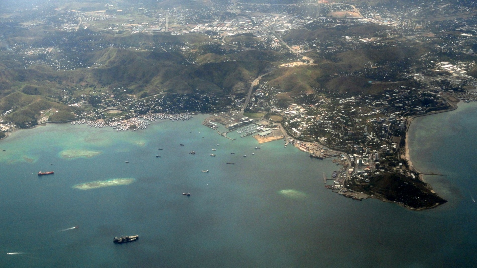 POM and Harbor Aerial View