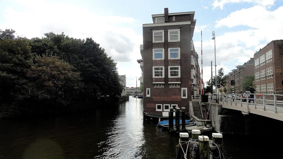 Amsterdam Canal & Street Corner
