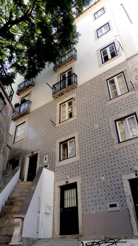 Alfama Stair & Tile Facade