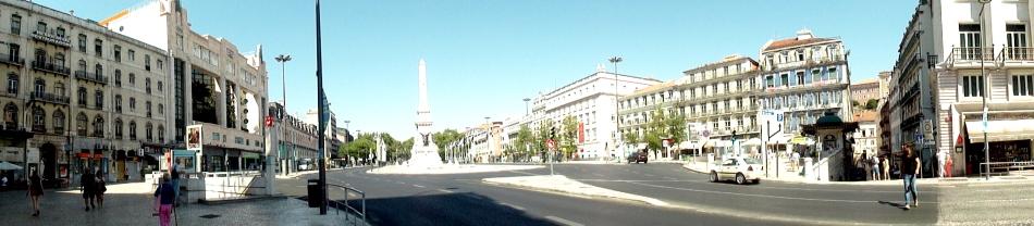 Avenida da Liberdade Statue Pano