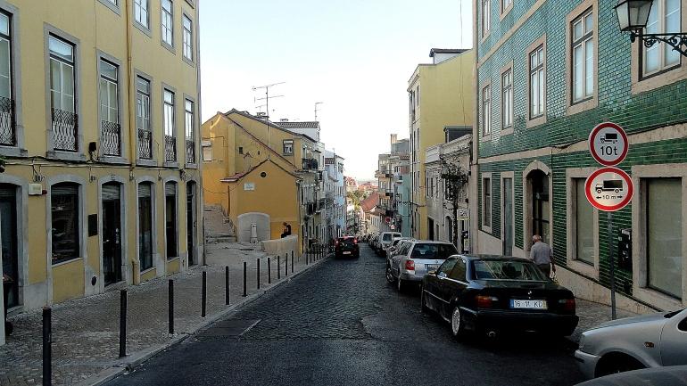 Cobbled Street & Tiled House