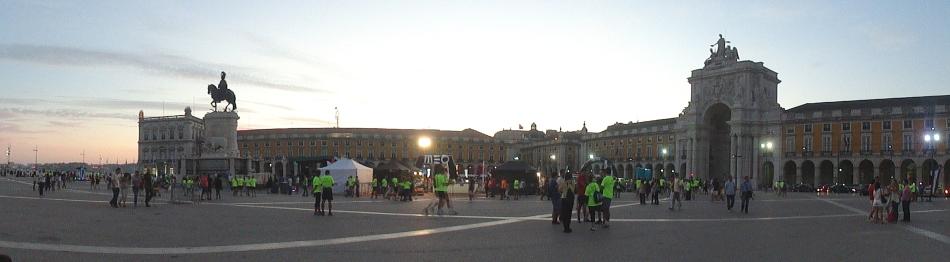 Comercio Square at Dusk