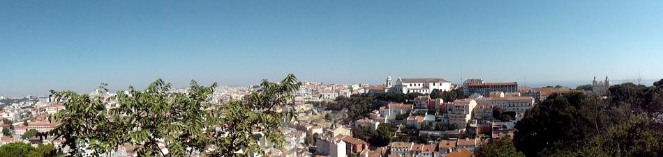 Graca Convento & Tile Facades from  Castelo Pano