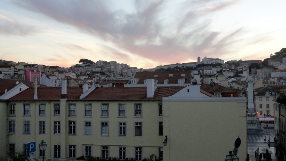 Skyline at Dawn from Rossio