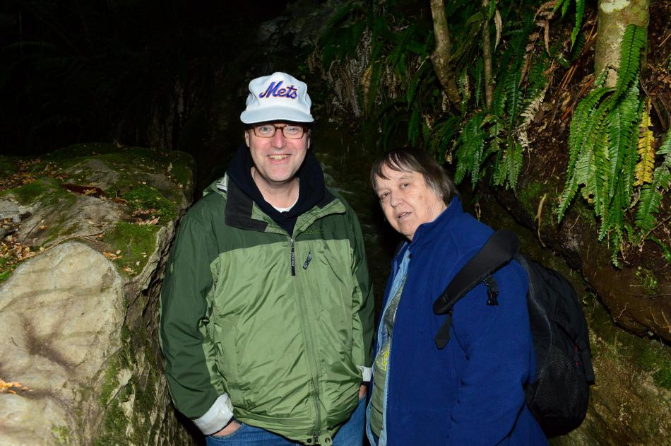 Steve & Mom Glowworm Cave