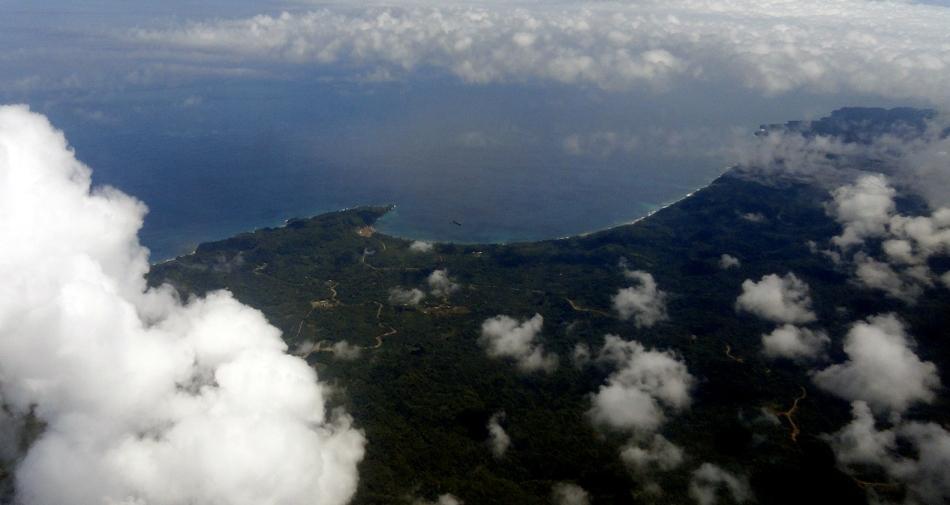 Coastal Bay and Clouds