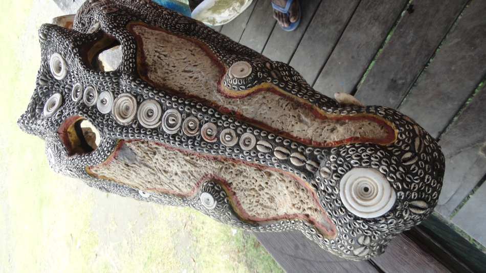Decorated Croc Skull