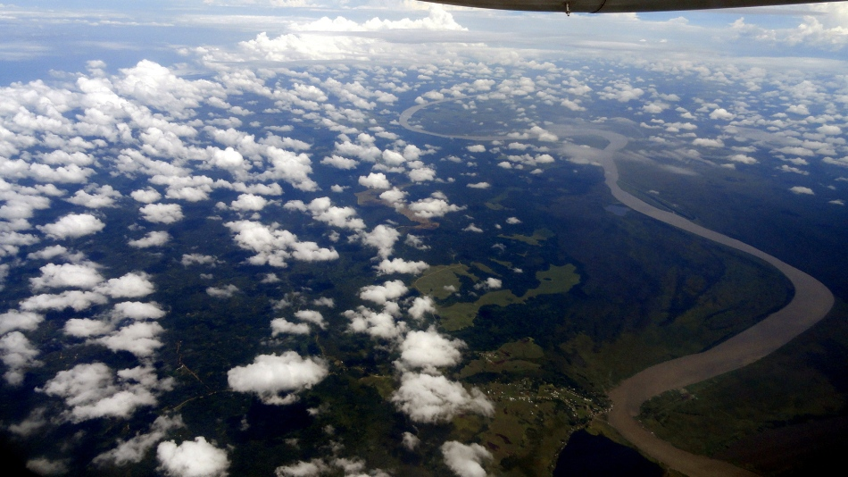 Prob Sepik River from Air