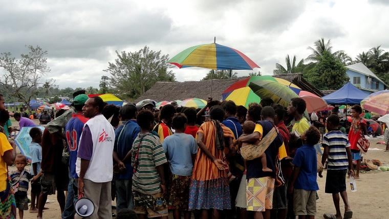 Maprik Market Outreach Crowd