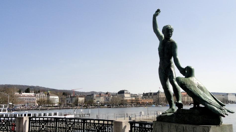 Lake Zurich - Ganymede Statue