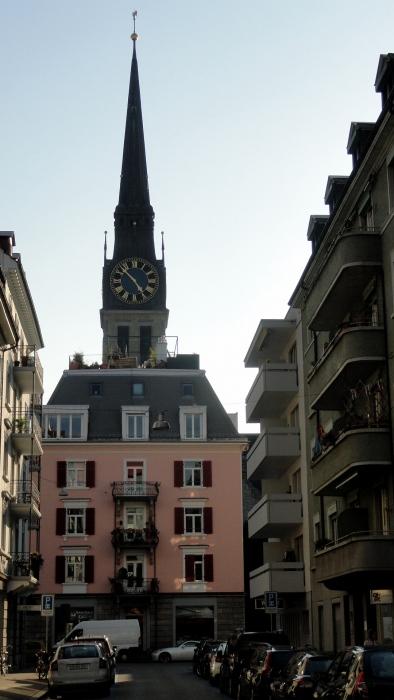 Zurich Church & Pink House