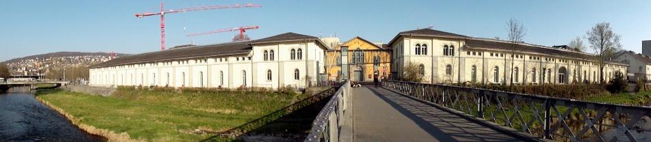 Zurich River-Bridge Pano