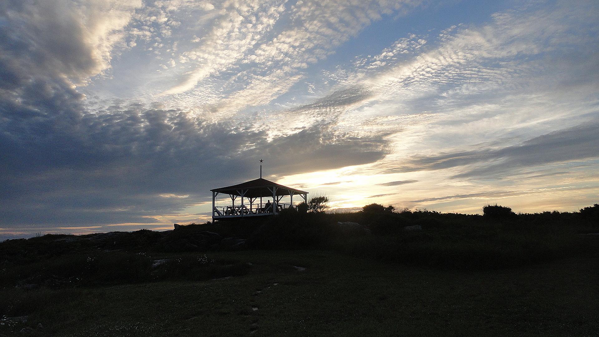 Summer House & Sunset Clouds