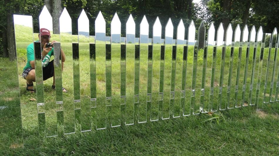 SK Mirror Fence Selfie