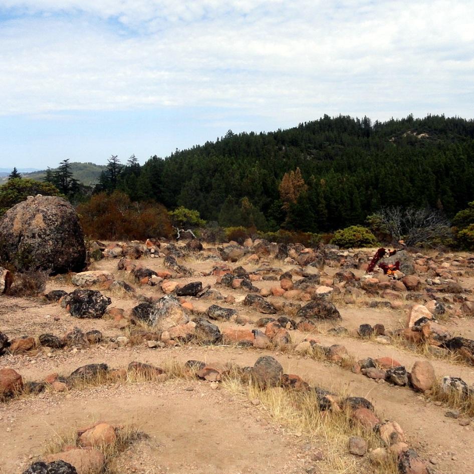 Meditation Maze on Ridge Hike