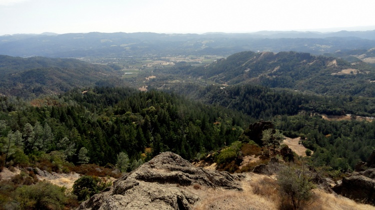 Napa Valley from Palisades Trail 2