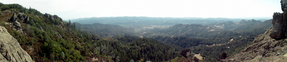 Napa Valley from Palisades Trail