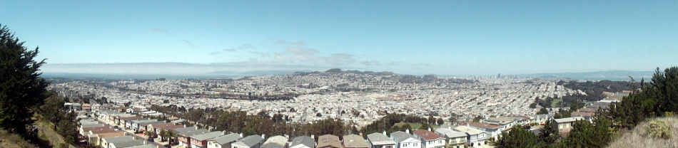 Ocean-SF-Bay Pano from SBruno Mtn