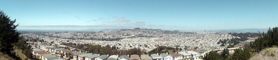 Ocean-SF-Bay Pano from SBruno Mtn