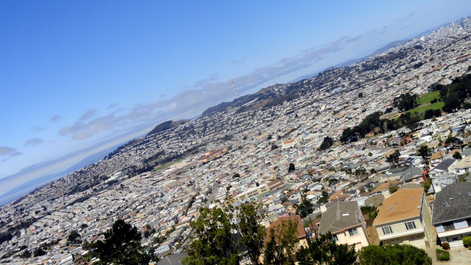 Twin Peaks-Mt Davidson from San Bruno Mtn
