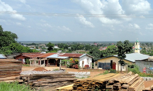 Mosque & Flatlands from Road