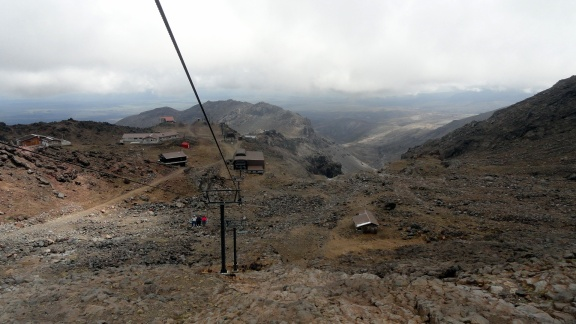 From Ruapehu Lift Going Down