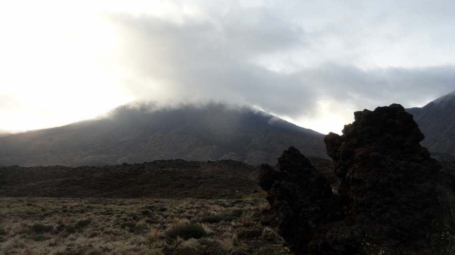 Mt Doom Shrouded in Cloud