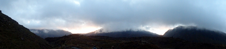 Pano Start of Tongariro Crossing Trail