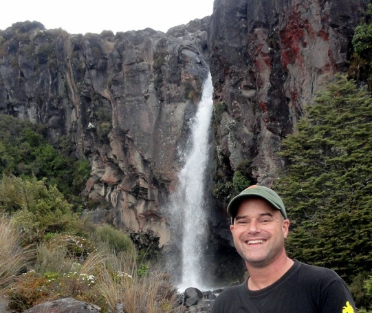 Paul at Taranaki Falls