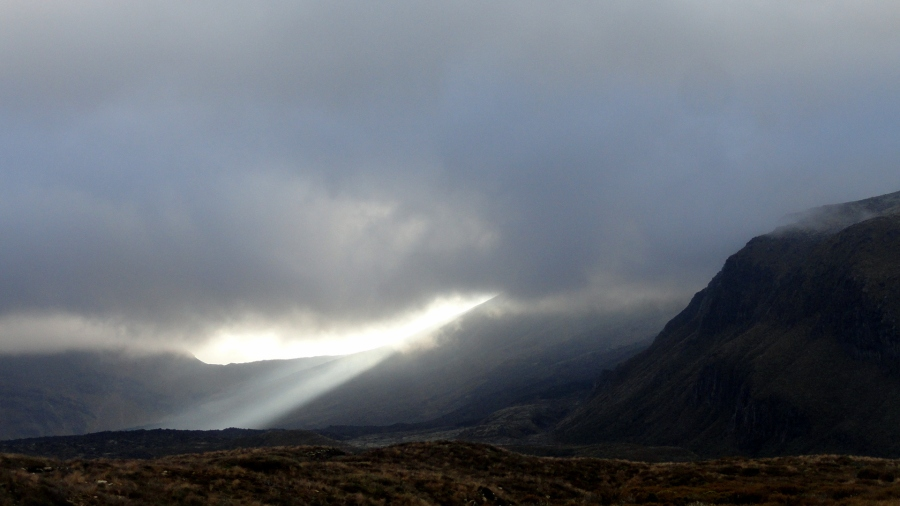 Sunlight Breaking Through - Tongariro Crossing