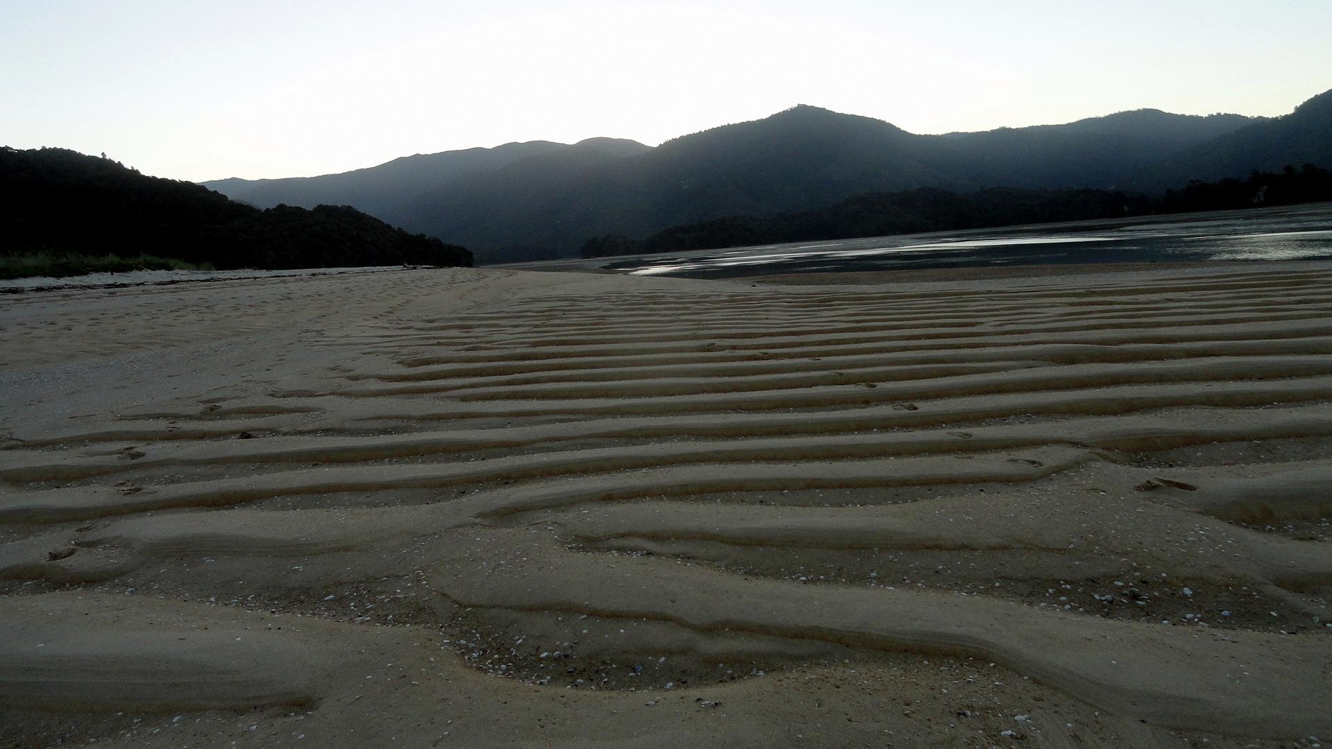Low-Tide Awaroa Bay Hills & Wave Sands