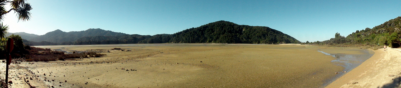 Low-Tide Awaroa Bay Pano