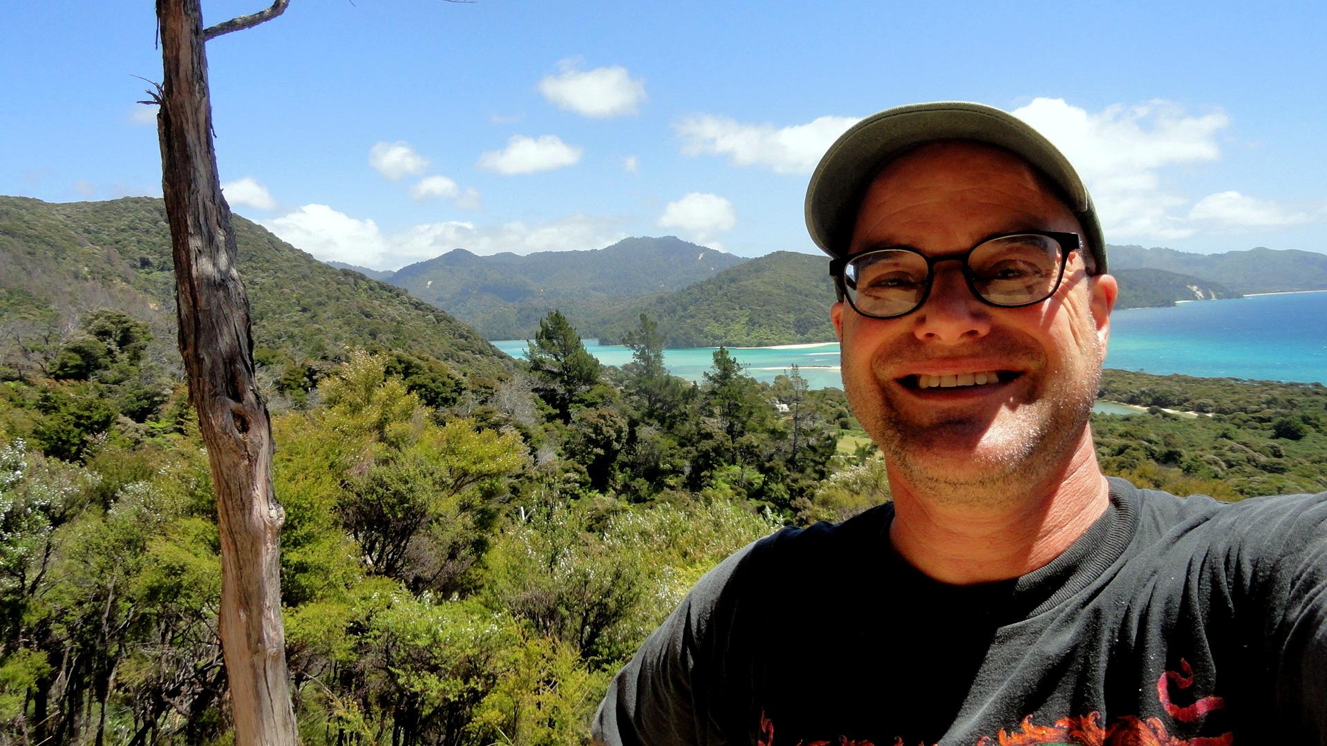 Paul on Tasman Trail