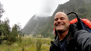 Rainy-Day Selfie on Milford Track