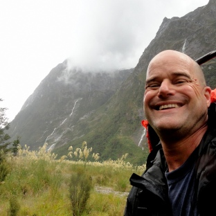 Rainy-Day Selfie on Milford Track