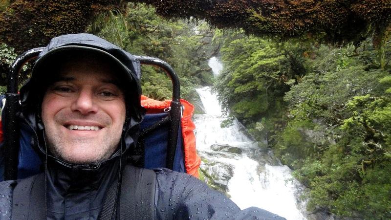 Selfie at Roaring Burn River