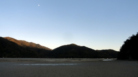 Torrent Bay Moonset Low Tide