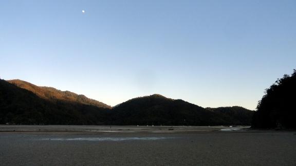 Torrent Bay Moonset Low Tide