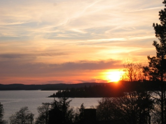 Alingsas - Sunset over Mjorn 2