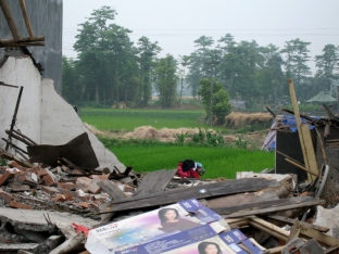 Jiulong - Rubble & Rice Fields
