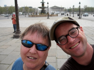 Paul & Mom @ Place Concorde w Madeleine